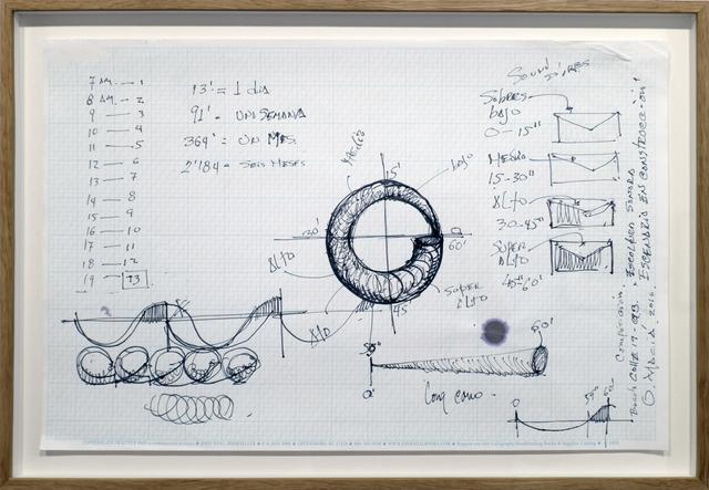 , 'Escenario en construcción, Monumento para rotonda Calle 19 - Carrera 3, Estudio - Composición. Tiempos,' 2016, espaivisor - Galería Visor