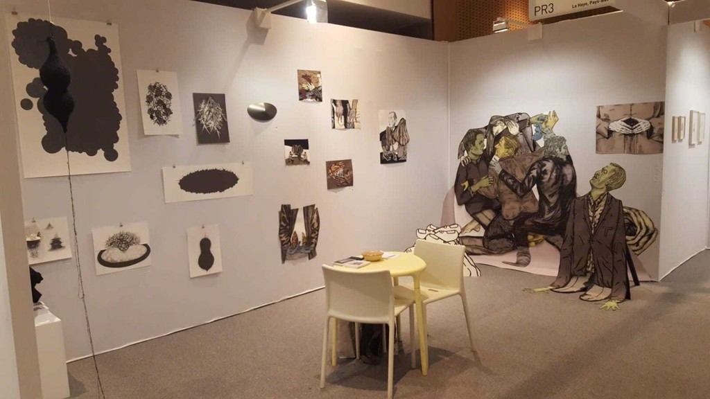 Oveview to the stand Pr3 of the PROCESS section at Drawing Now, Paris