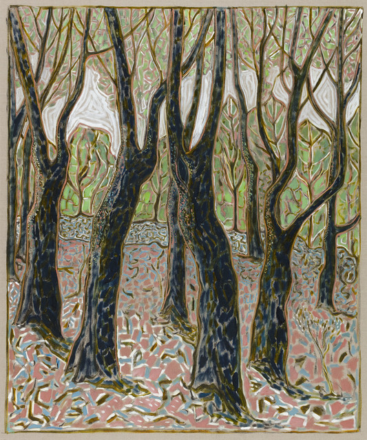 , 'beech wood,' 2016, Carl Freedman Gallery