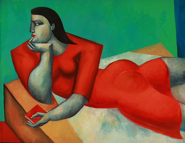 , 'Reclining Woman in Red,' 2015, Moso Art Gallery