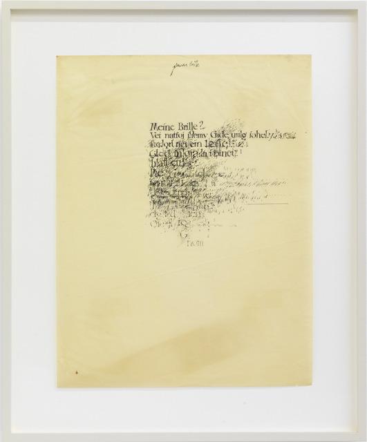, 'unsere Brille,' 1961, KÖNIG GALERIE