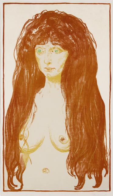 , ' Kvinne med rødt hår og grønne øyne. Synden (Woman with Red Hair and Green Eyes. The Sin),' 1902, John Szoke
