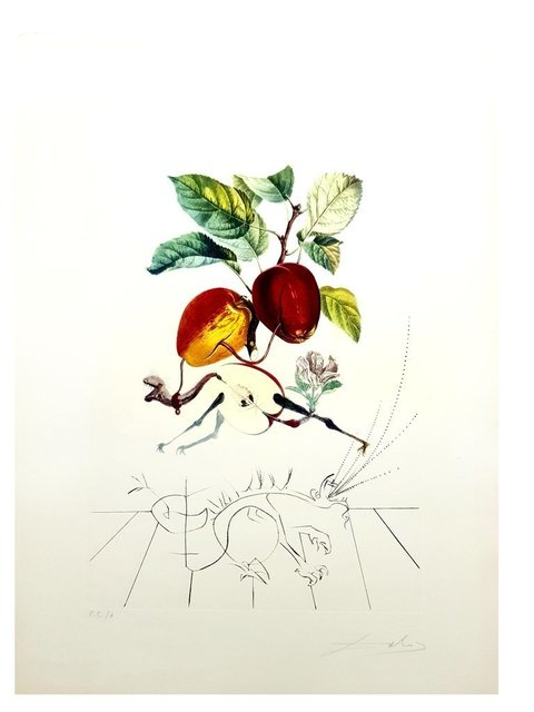 "Salvador Dalí, 'Original Lithograph ""Flordali - Dragon Apple"" by Salvador Dali', 1969, Galerie Philia"