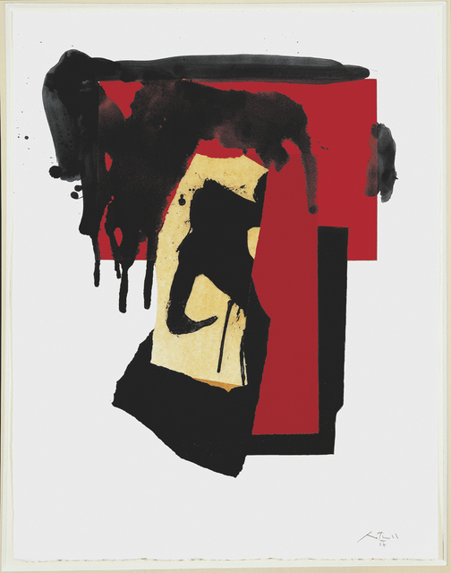 , 'The Red and Black No. 4,' 1987/1988, Dedalus Foundation