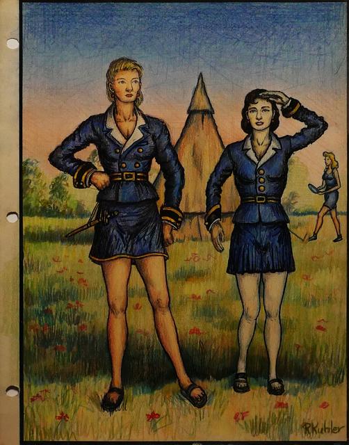 Renaldo Kuhler, 'Anita Ingeman and Donna Hansen in New Blue', 1959, Ricco/Maresca Gallery