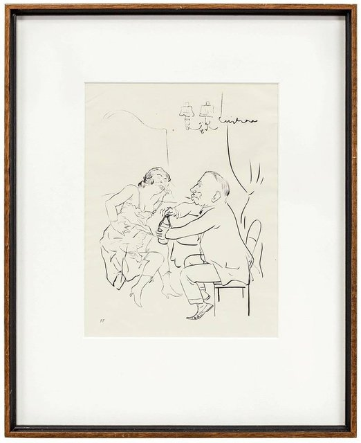 George Grosz, 'UNTITLED (MAN AND WOMAN DRINKING)', Early 20th Century, Lions Gallery