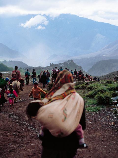 Ralf Schmerberg, 'Walk to the Clouds, Kagbeni, Mustang, Nepal', 1999, Bryce Wolkowitz Gallery