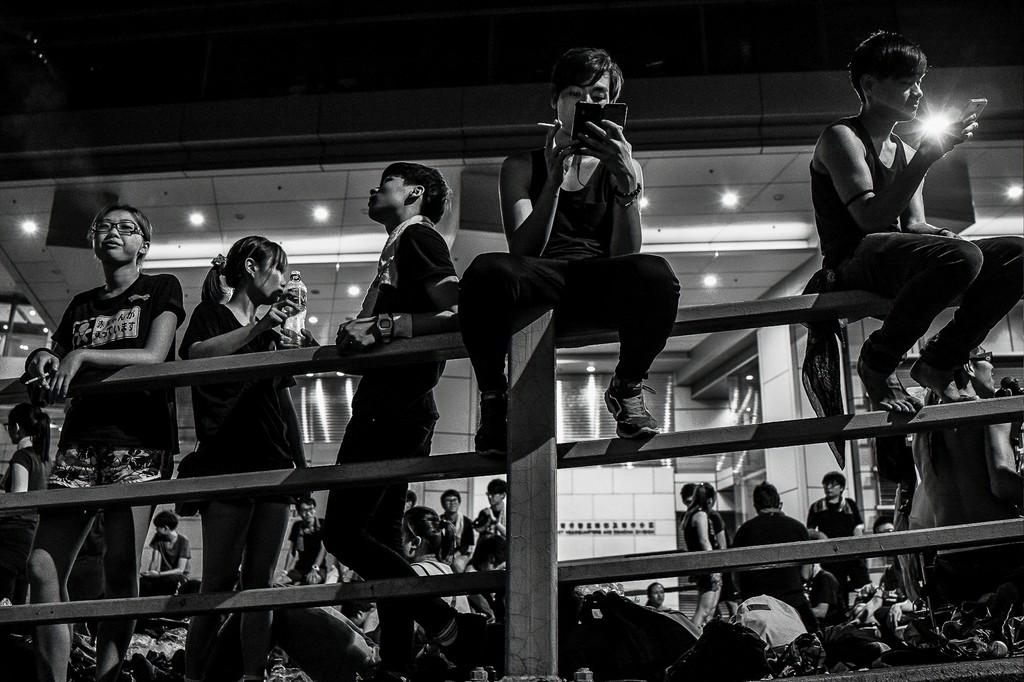 Xyza Bacani Occupy HK 07, 2014 Digital Photography, Black and White 16h x 20w in