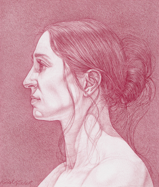 Robert L. Schultz, 'Anna', 2021, Drawing, Collage or other Work on Paper, Tuscan red pencil on paper, Koplin Del Rio