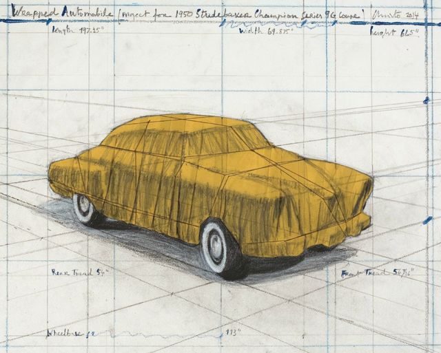 , 'Wrapped Automobile (Project for Studebaker),' 2014, Fils Fine Arts