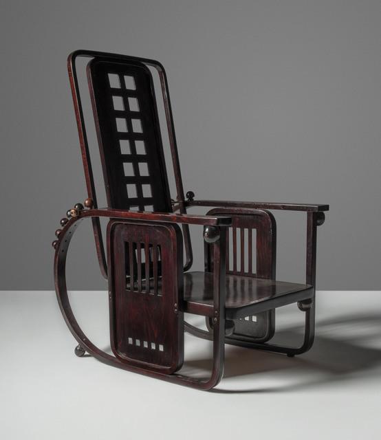 Josef Hoffmann, 'A 'Sitzmaschine' adjustable armchair, model no. 670', designed 1908, Design/Decorative Art, Stained beech, stained beech plywood, steel, Christie's