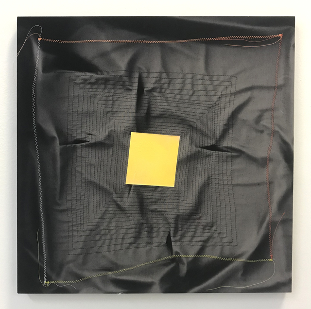 , 'Ghost Pattern (Yellow on Black),' 2019, Halsey McKay Gallery