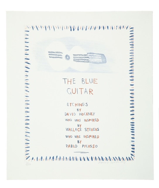 David Hockney, 'The Blue Guitar (M.C.A. Tokyo 178)', 1976-77, Forum Auctions
