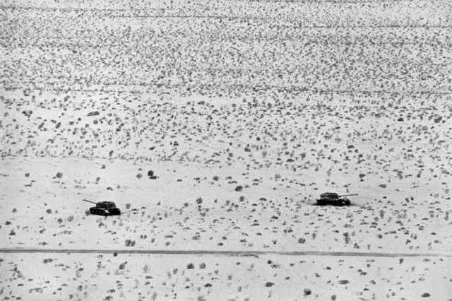 René Burri, 'Sinai Desert, Egyptian tanks', 1967, Atlas Gallery