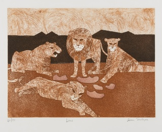 Julian Trevelyan, 'Lions,' 1966-67, Forum Auctions: Editions and Works on Paper (March 2017)