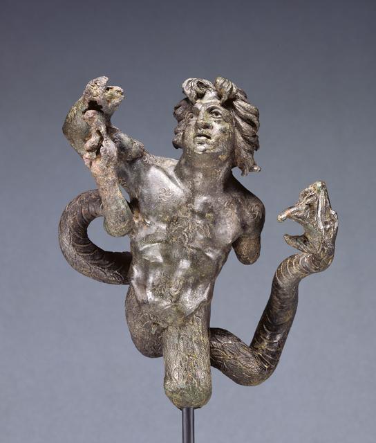 'Statuette of a Snake-legged Giant', 180 -220, J. Paul Getty Museum