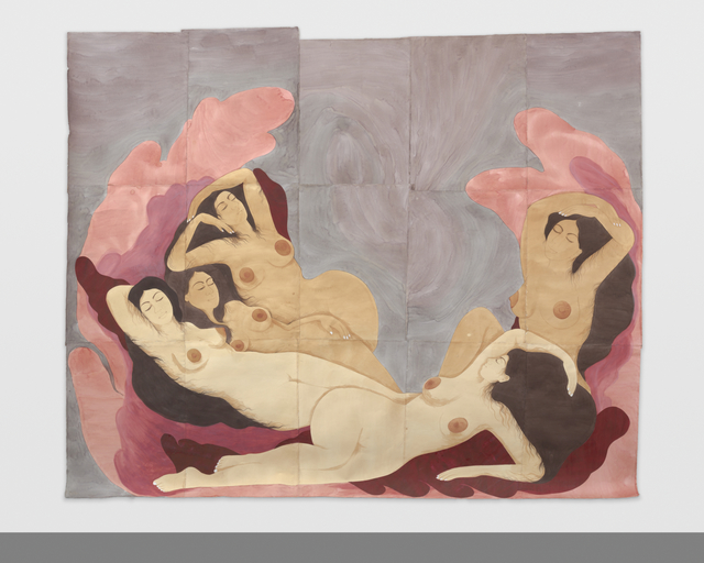 Hiba Schahbaz, 'Dreamers', 2018, Painting, Tea, watercolor and gouache on Twinrocker (handmade paper), New Image Art