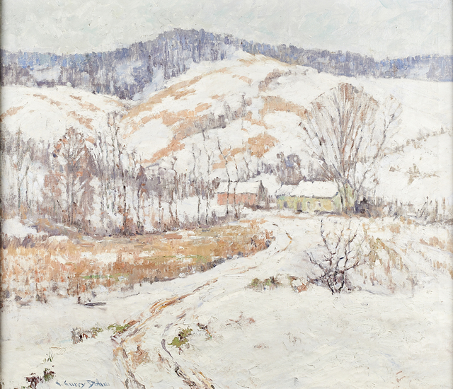 C. Curry Bohm, 'Untitled (Winter Landscape)', ca. 1930, Painting, Oil on canvas (framed), Rago/Wright
