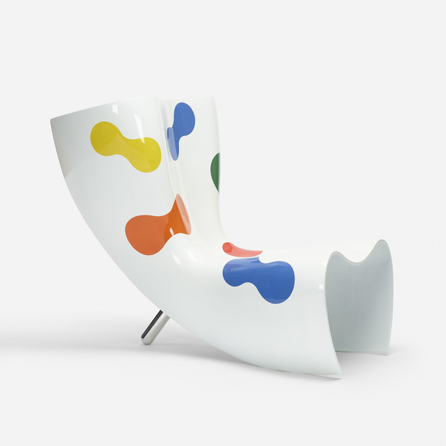 Marc Newson, 'Felt chair', 1989, Design/Decorative Art, Lacquered fiberglass, mirror-polished aluminum, Rago/Wright