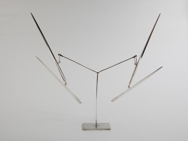", '""Two Lines Up"" kinetic earrings,' ca. 1960s, Didier Ltd."