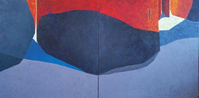 Tomàs Sunyol, 'La rue rouge (diptych)', 2019, Villa del Arte Galleries