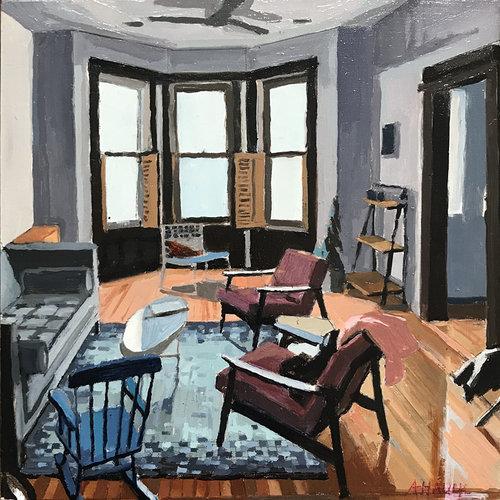 Aaron Hauck, 'Bushwick Apartment Streetside', 2018, Deep Space Gallery