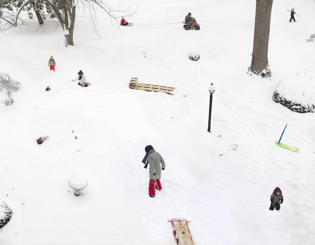 Julie Blackmon, 'Snow Days', 2021, Photography, Pigment Print, Robert Klein Gallery