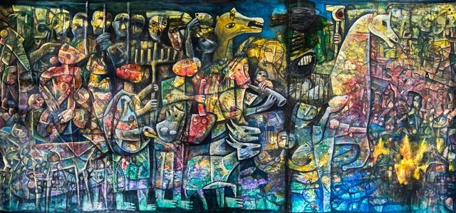 "Fahri Aldin, '""The Babylonian Exile""', 2017, Gallery 104"