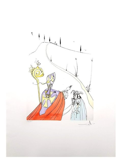 "Salvador Dalí, 'Original Etching ""The Sacred Love Of Gala"" by Salvador Dalí', 1974, Galerie Philia"