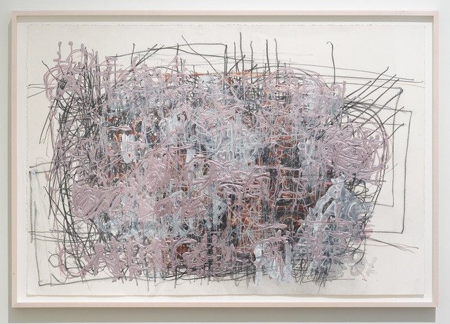 Dan Miller, 'Untitled (Purple and red over black lines)', 2017, Diane Rosenstein