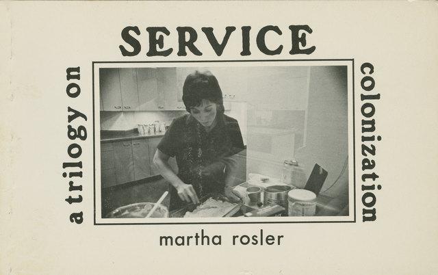 , 'Service: a trilogy on colonization ,' 1978, mfc - michèle didier