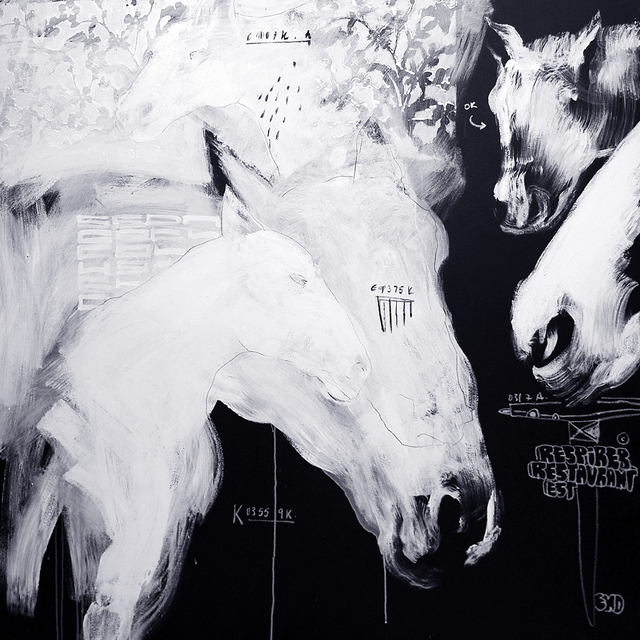 , 'Untitled Horse A,' 2007, EBONY/CURATED
