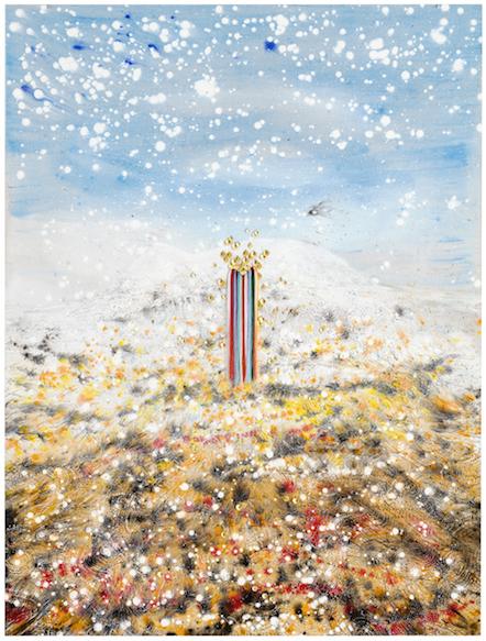 , 'Pyhä tunturi Rástegáisa laillisena oikeushenkilönä I / Rástegáisa lágalaš riektesubjeaktan I /Sacred Mountain Rástegáisa as a Legal Person I,' 2018, Helsinki Contemporary