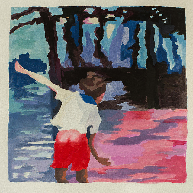 , 'Stonethrower (study),' 2018, Jonathan Ferrara Gallery