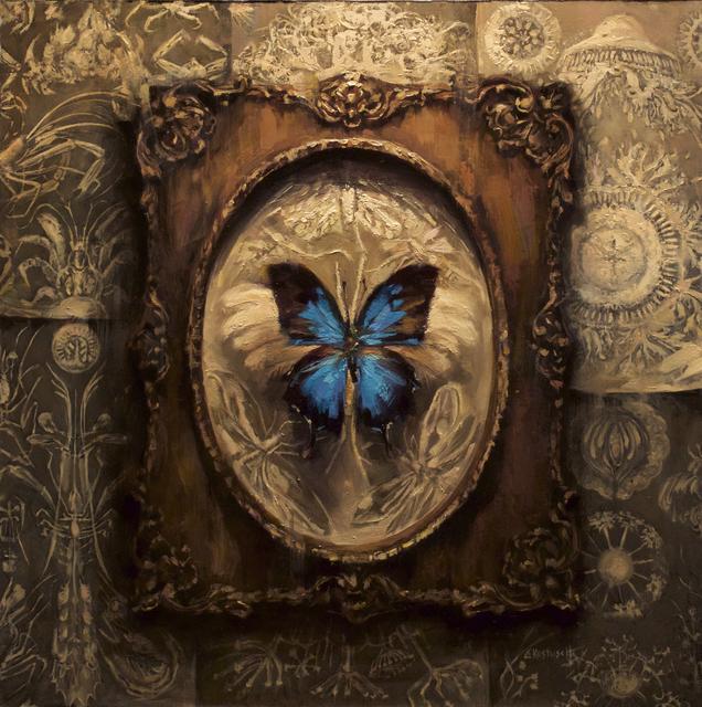 Lindsey Kustusch, 'Papilo Ulysses', 2016, Painting, Oil on panel, Abend Gallery