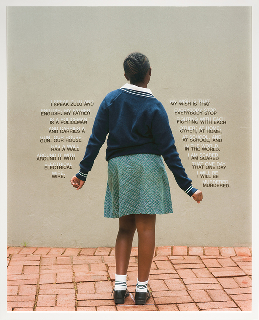 , 'Fourth Grade - Be Murdered (South Africa Public School),' 2018, Pentimenti Gallery