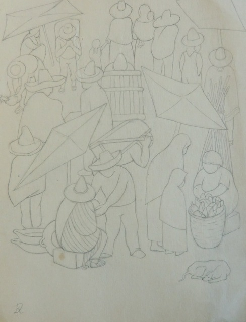 Diego Rivera, 'Escana del mercado / Tianguis', Galerie AM PARK