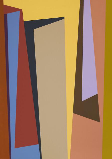 Karl Benjamin, '#1, 1987', 1987, Painting, Oil on canvas, Louis Stern Fine Arts