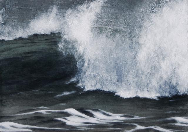 Lisa Lebofsky, 'Long Island Waves', 2015, Painting, Oil paint on aluminium, Friends Seminary Benefit Auction