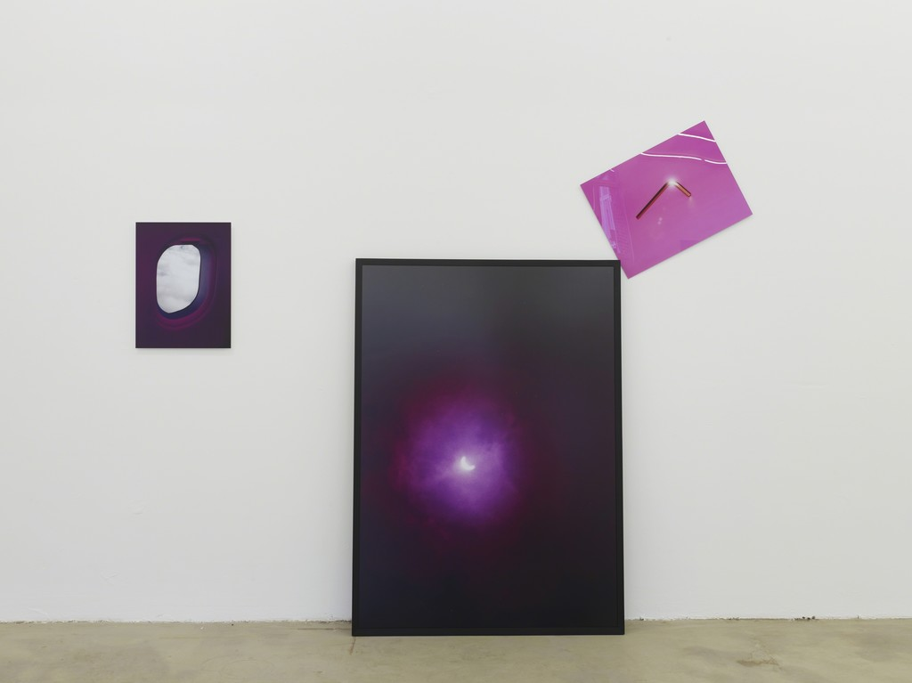 eclipse 99 cluster, 2014, digital c-print, 40 x 53 cm; 111 x 155 cm; 60 c 45 cm, exhibition view at Klemm's, Berlin 2014