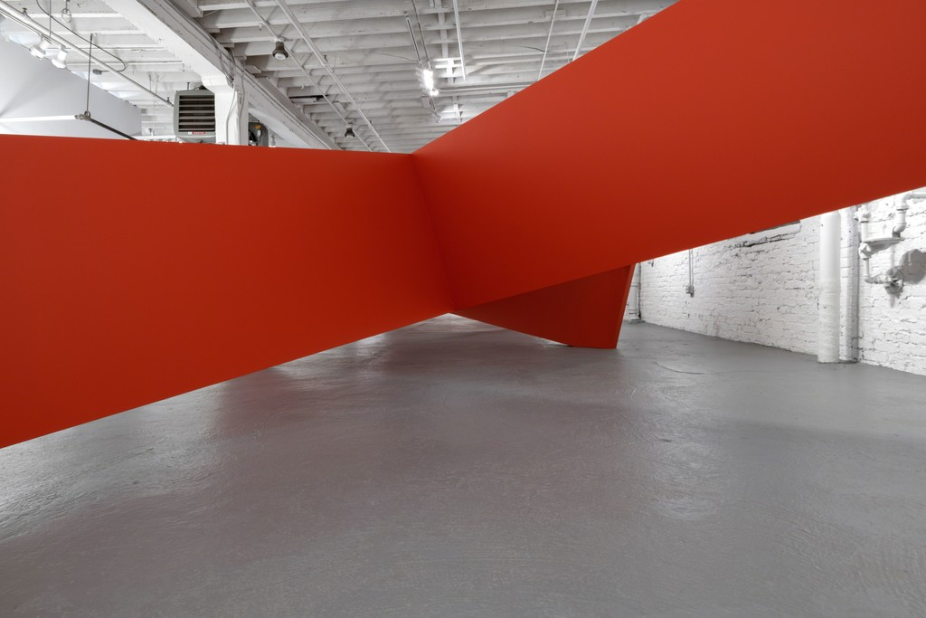Thomas Lendvai's large installation sculpture LANDSCAPE at PROTO Gallery.