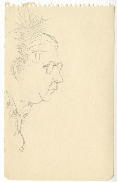 , 'Profile of a Woman in Glasses,' ca. 1940, Timothy Taylor
