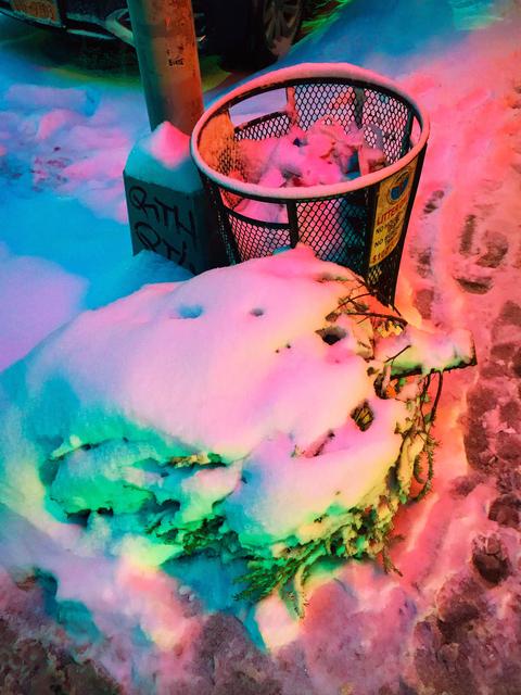 , 'Neon Snow Pt. II (SoHo, NYC),' 2017, Annka Kultys Gallery