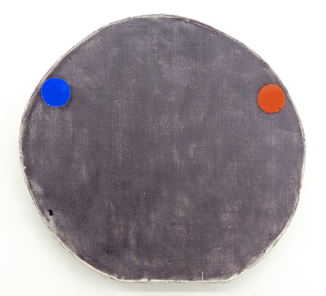 , 'Blue and Red Oxide on Purple,' 2019, Marc Straus