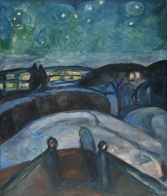 Edvard Munch, 'Starry Night', 1922-1924, Museo Thyssen-Bornemisza