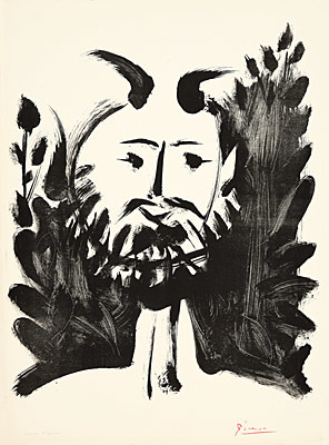Pablo Picasso, 'Faune souriant', 1948, Print, Lithograph, Galerie Boisseree