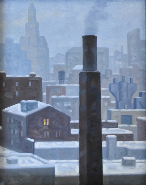 Robert Goldstrom, 'Smith-Ninth, Winter 2, Study', 2015, Carrie Haddad Gallery