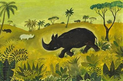 Rhinoceros on the Savannah