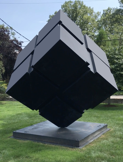 , 'Kinetic Rotating Spinning Outdoor Monumental Minimal Black Cube,' 1999, Jeffrey Spahn Gallery