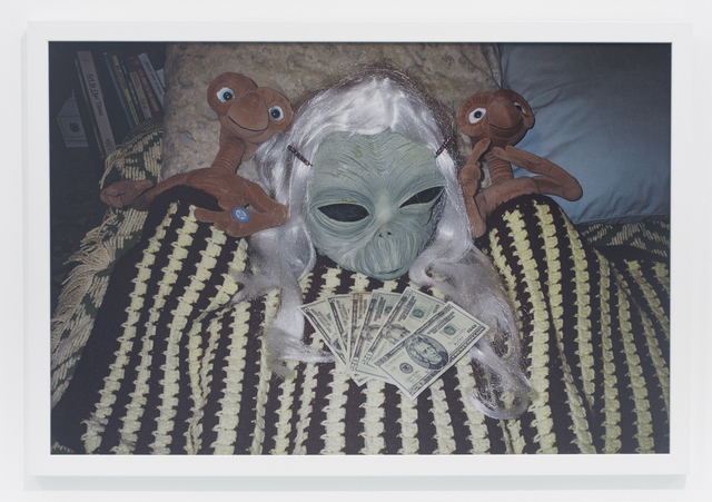 , '2 E.T.s and green girl alien,' 2007, The Hole